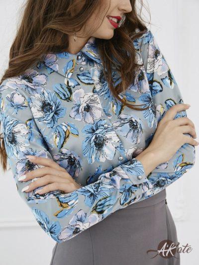 Блузка с цветами - akaterina.ru