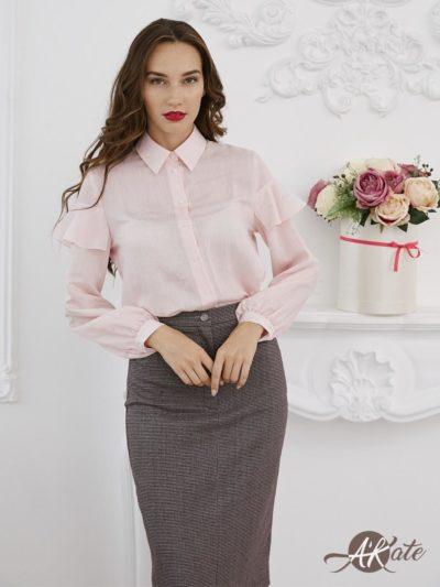 Блузка с воланами на плечах - akaterina.ru