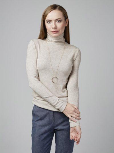 Блузка с пышным рукавом принт AU18BL0610