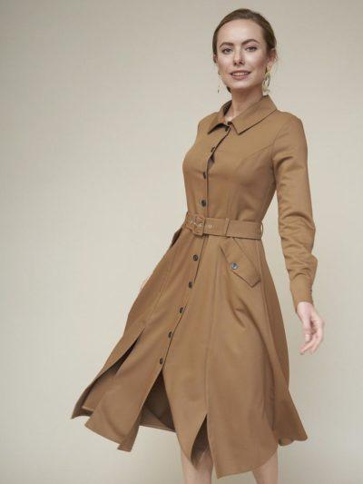 Платье-рубашка с карманами - akaterina.ru