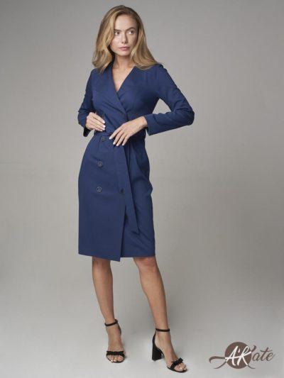 Платье-жакет синее - akaterina.ru