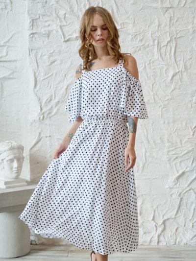Платье белое в грошек - akaterina.ru